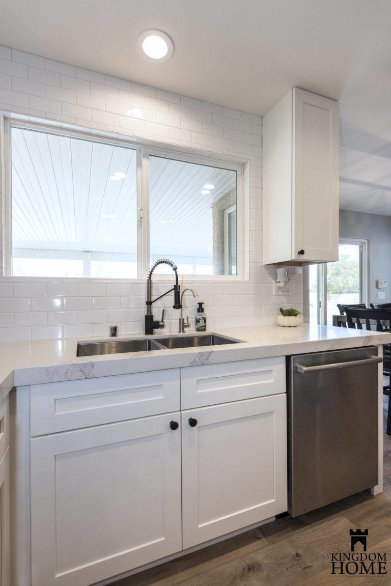 Modern All White Kitchen In Las Vegas Kingdom Home Kitchendesign Homedecor All White Kitchen Kitchen Inspirations Kitchen