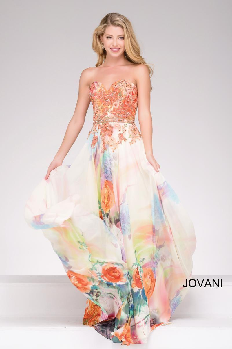 Jovani 47191 Floral Print Prom Dress | Dress | Pinterest | Long prom ...