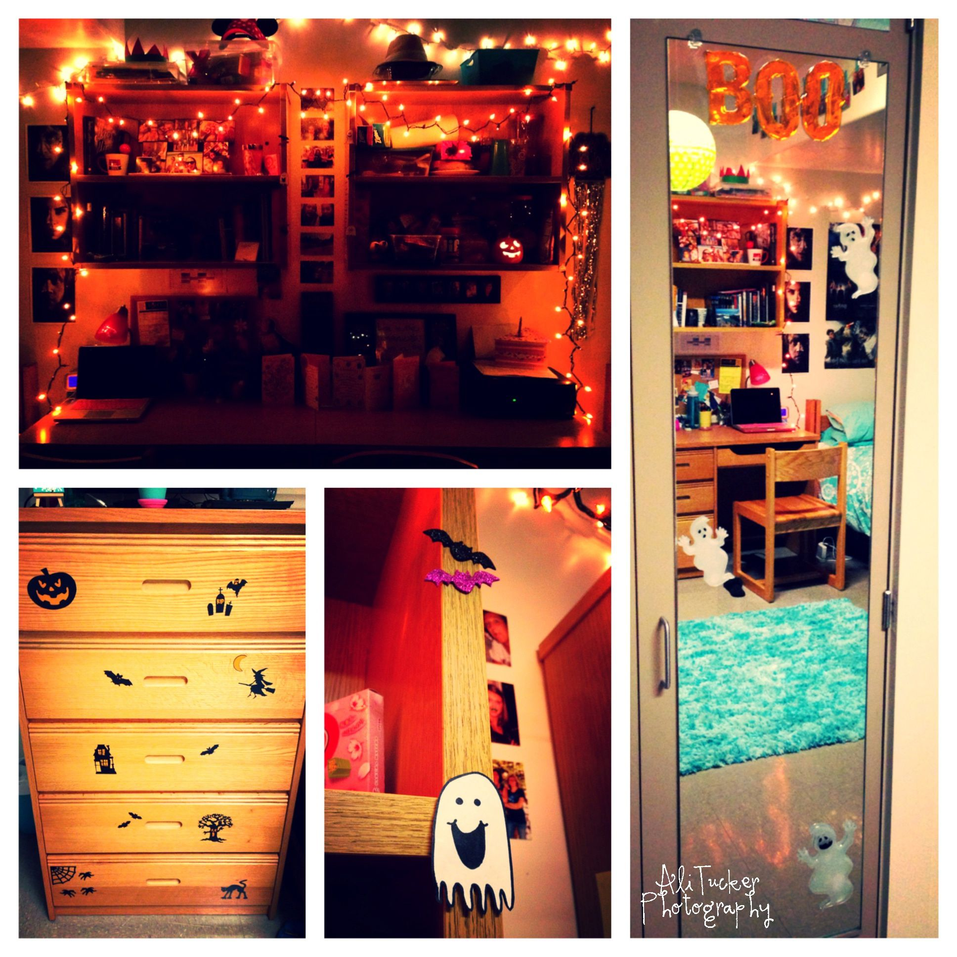 How To Decorate A Dorm Room For Halloween 1 Twinkle Lights