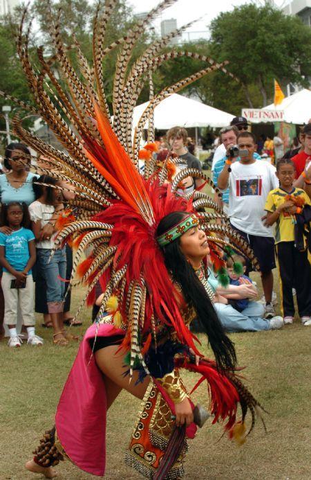 Aztec indian costume