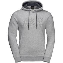 Photo of Jack Wolfskin Hooded Sweatshirt Männer Logo Hoody Männer Xxxl Grau Jack Wolfskin