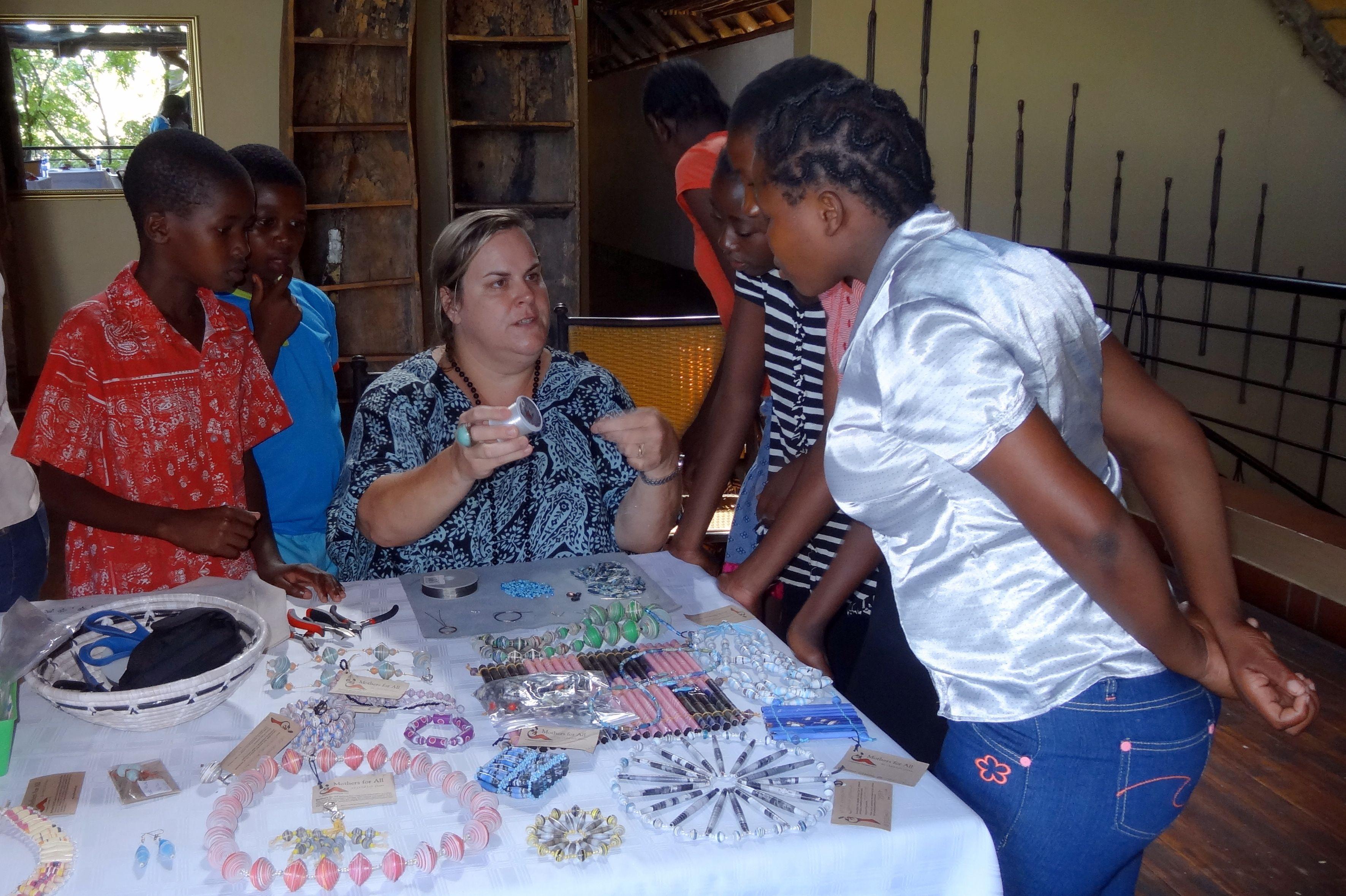 Chobe Safari Lodge hosting a beading workshop