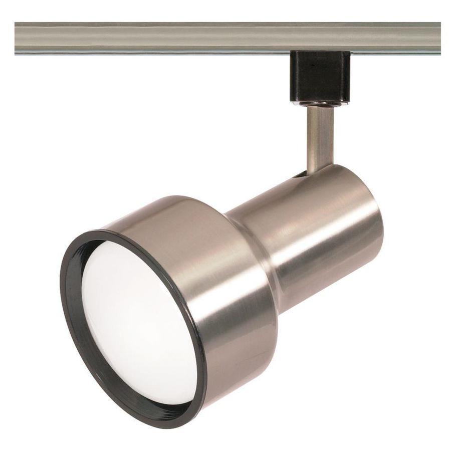 1 Light Brushed Nickel Flat Back Head S Track Lighting Head Lowes Com Track Lighting Fixtures Track Lighting Heads Flexible Track Lighting