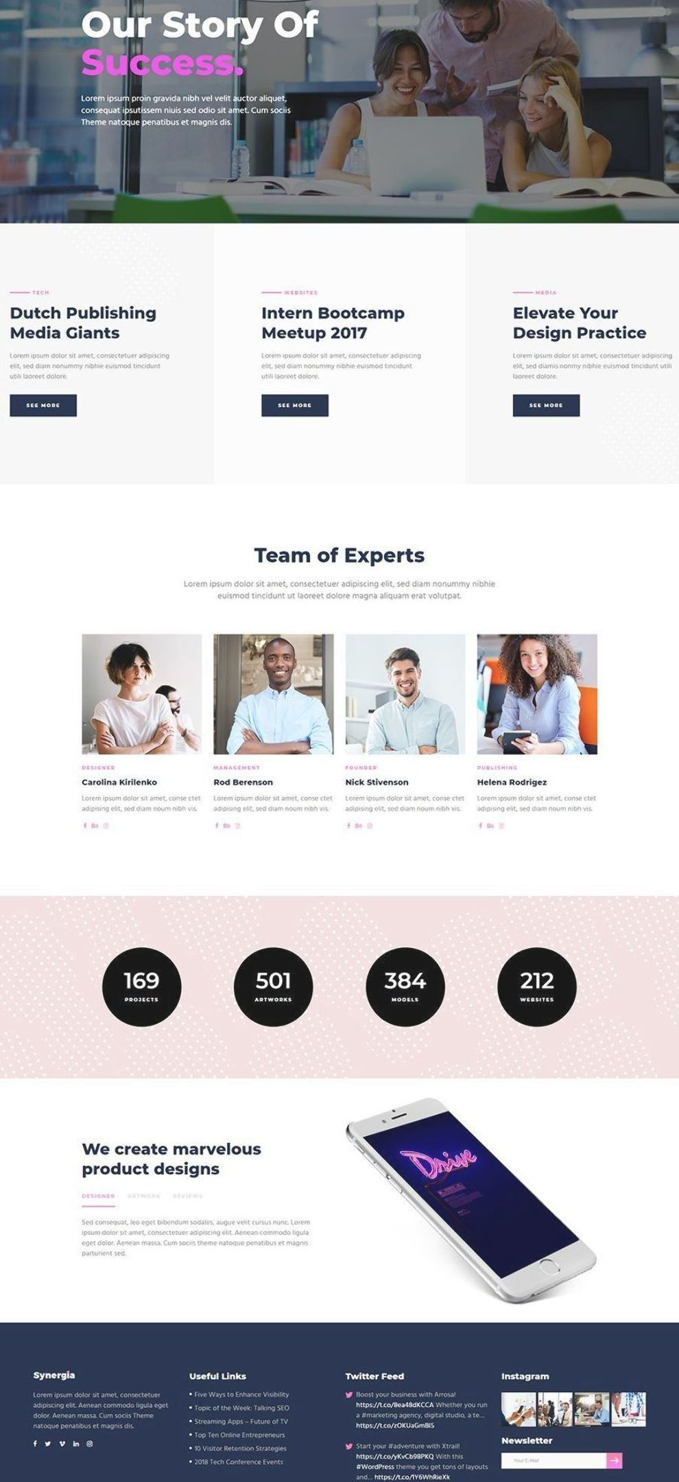 Present your tech business with Synergia WordPress theme! #wordpress #theme #design #webdesign #uxdesign #uidesign #responsive #designinspiration #webdesign #wordpresslove #template #layout #websitedesign