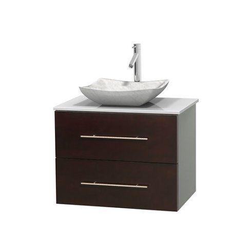 Wyndham Collection Centra 30 inch Single Bathroom Vanity in Espresso