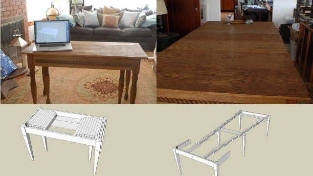 Build An Expandable Dining Table That Can Seat Ten And Fit In A