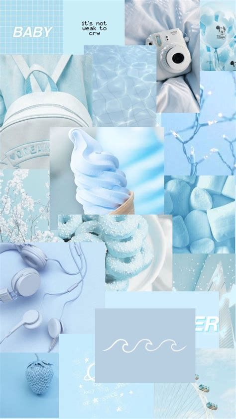 IPhone Blue Stitch Aesthetic Wallpaper | Wallpaper Iphone