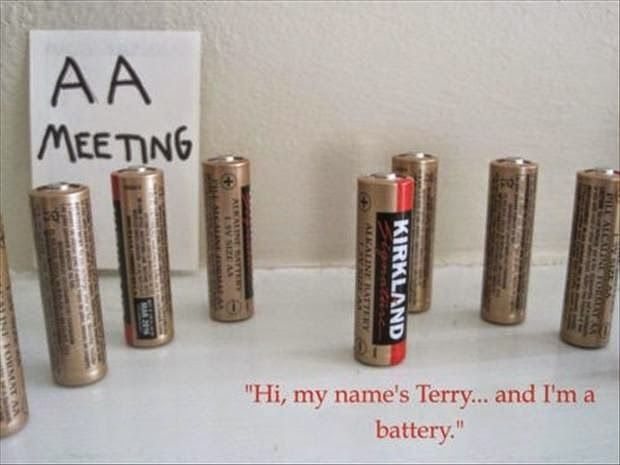 Funny Aa Battery Meeting Funny Pictures Aa Meetings Just For Laughs