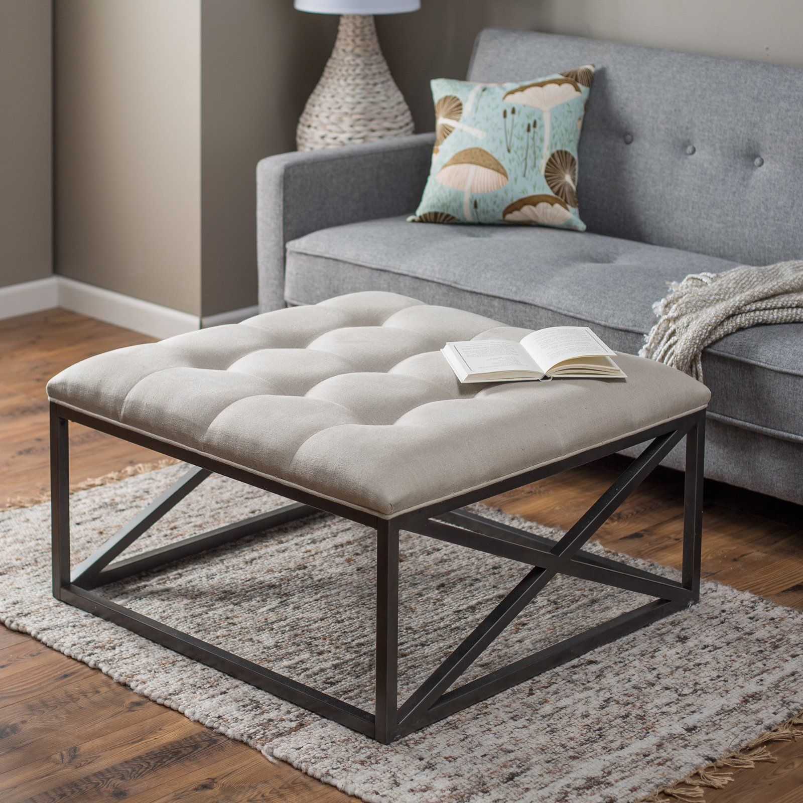 Belham Living Grayson Tufted Coffee Table Ottoman | from hayneedle ...