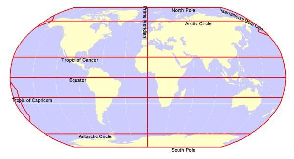 north america map tropic of cancer equator prime meridian tropic of cancer tropic of capricorn arctic