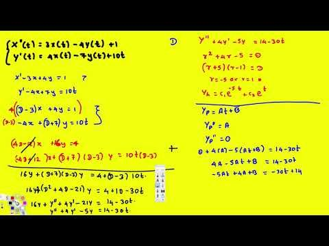 System Of Differential Equations By Elimination Ex1