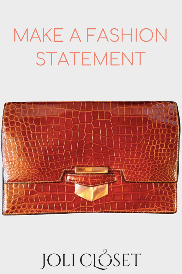0cff5596b658ed The rare Hermès 'pan' clutch made from crocodile leather in a beautiful  etruscan colour