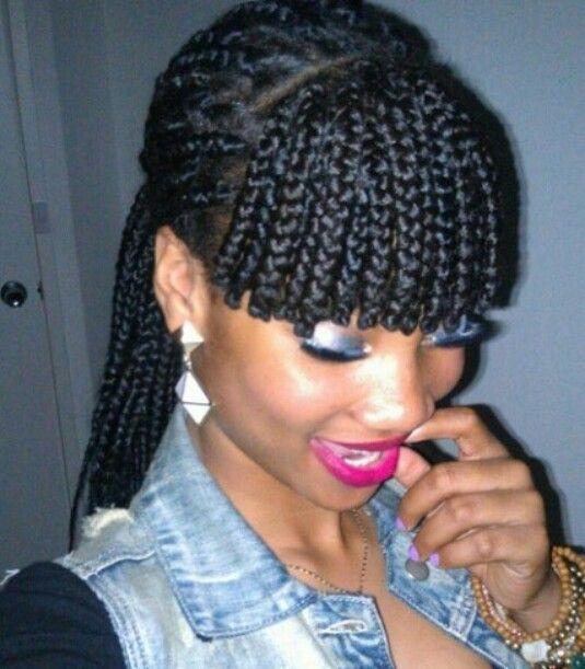 I Love This Box Braid With Fringe Hair Styles Braided Hairstyles Hair
