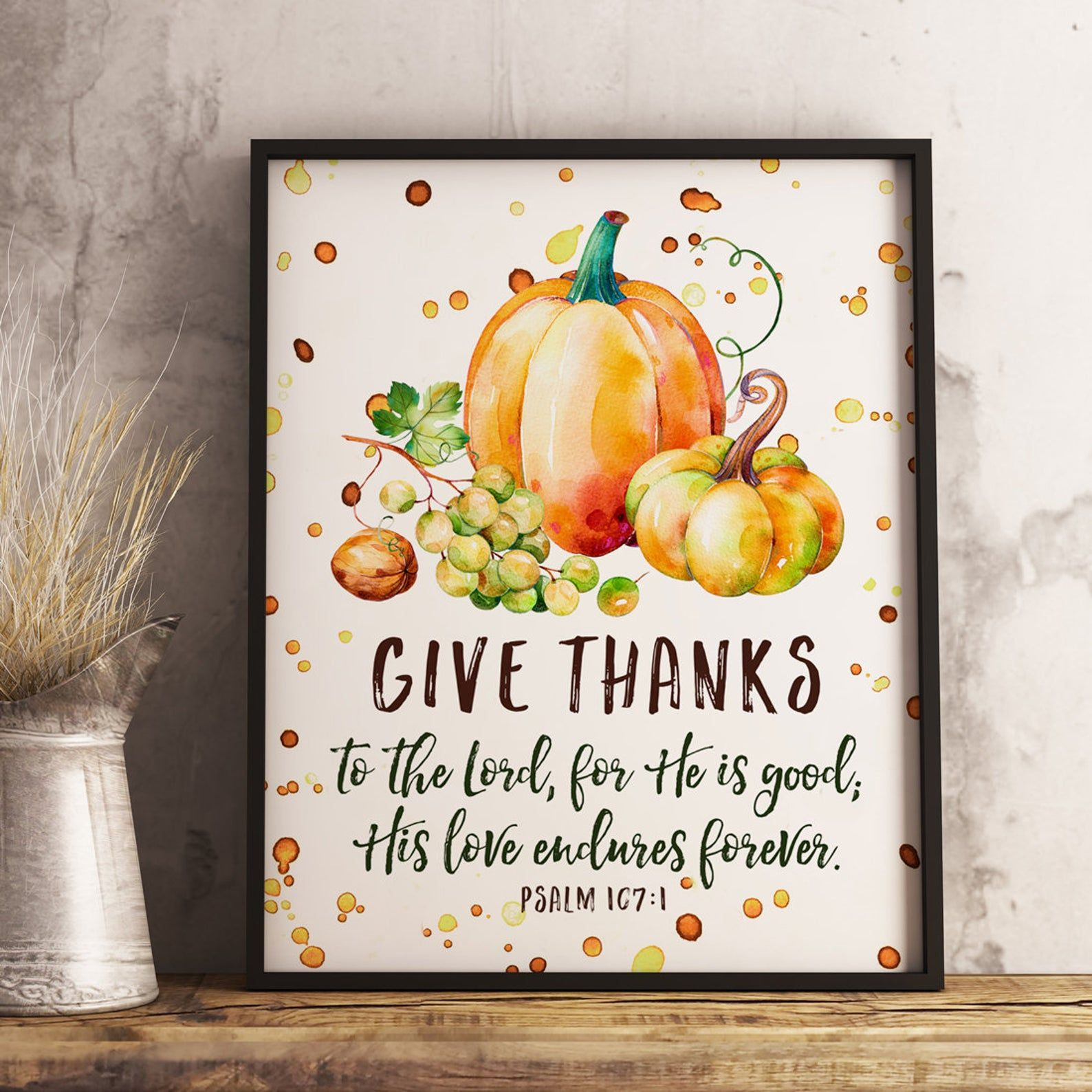 Give Thanks to the Lord Printable, Psalm 1071 Print