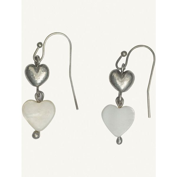 Fat Face Mother Of Pearl Heart Drop Earrings 11 Liked On Polyvore Featuring
