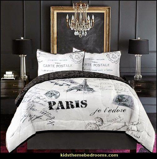 Eiffel Tower 4 Piece Comforter Set