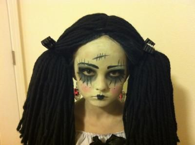 Gothic Rag Doll Child/Tween Costume | Scary doll makeup, Scary ...