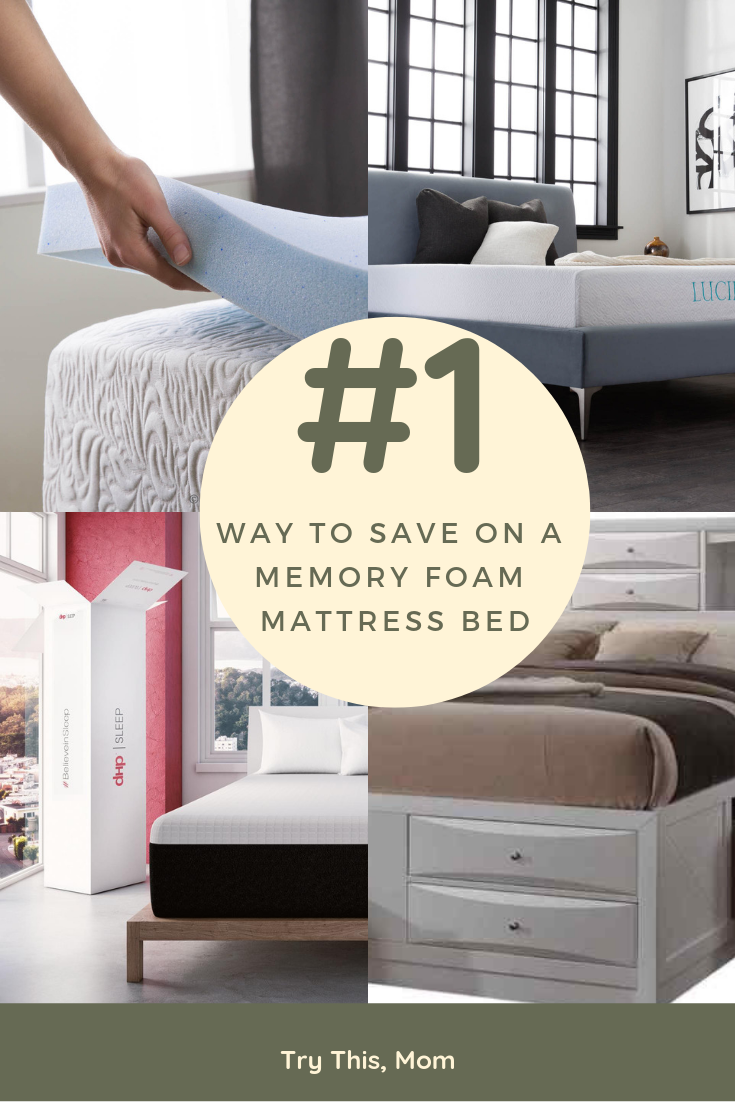 Shopping For A Mattress Or Bed Look Here To See How I Saved 500 Memory Foam Mattress Toppers Platform B Bed Mattress Memory Foam Diy Bed Mattress Mattress