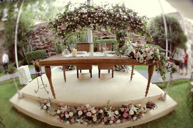 mesa de novios boda vintage rustica
