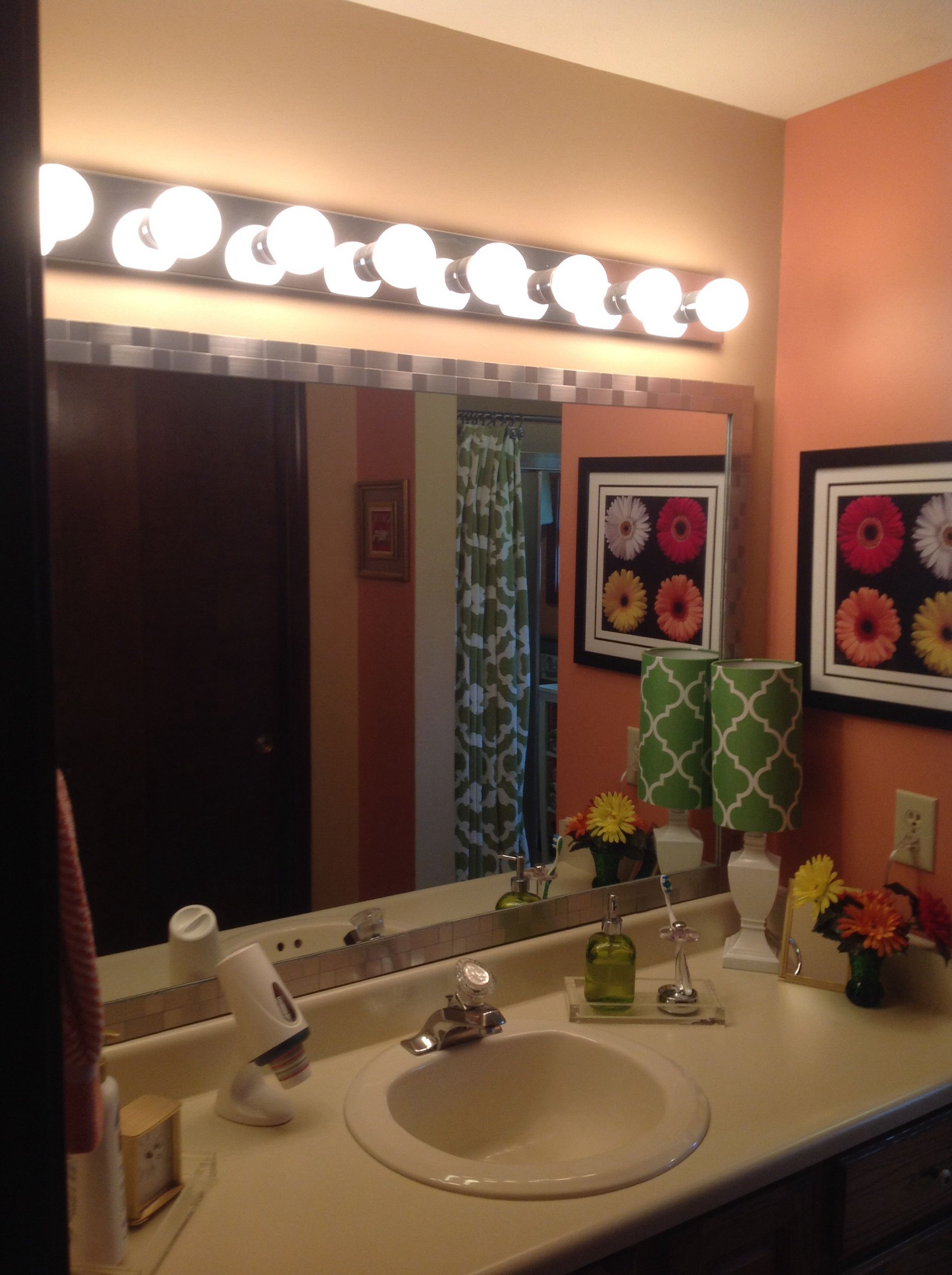 tile mirror frame