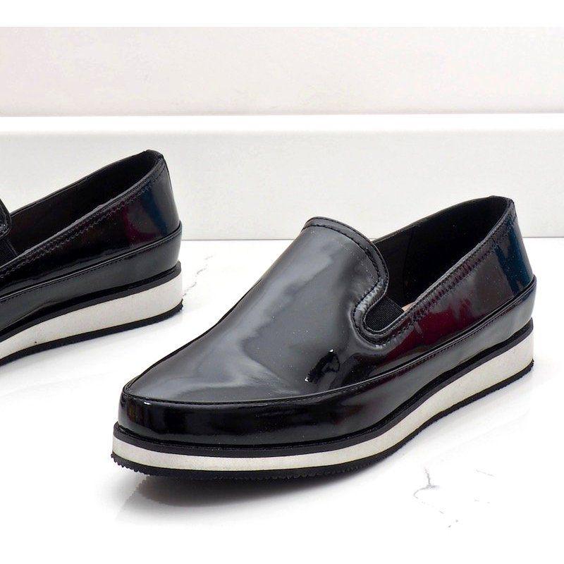 Czarne Polbuty Na Koturnie 5388 2 Dress Shoes Men Loafers Men Oxford Shoes