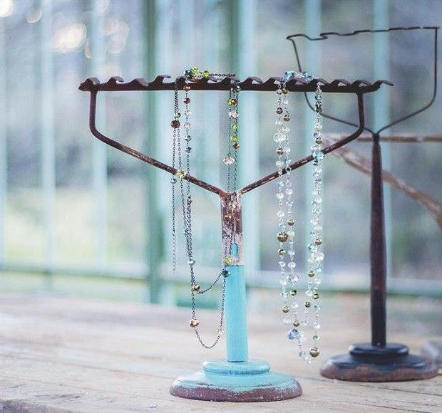 Rake Top Jewelry Stand Jewelry Tree Stand Diy Necklace