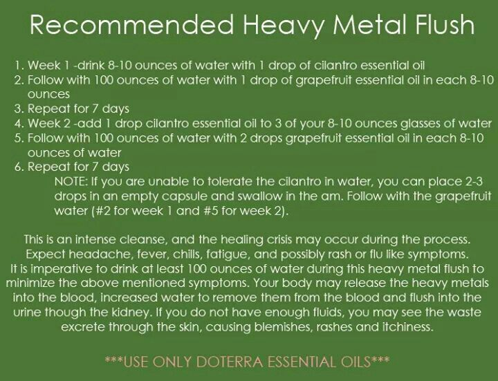 Metal detox | Essential Oils! | Pinterest | doTerra, Doterra oil and ...
