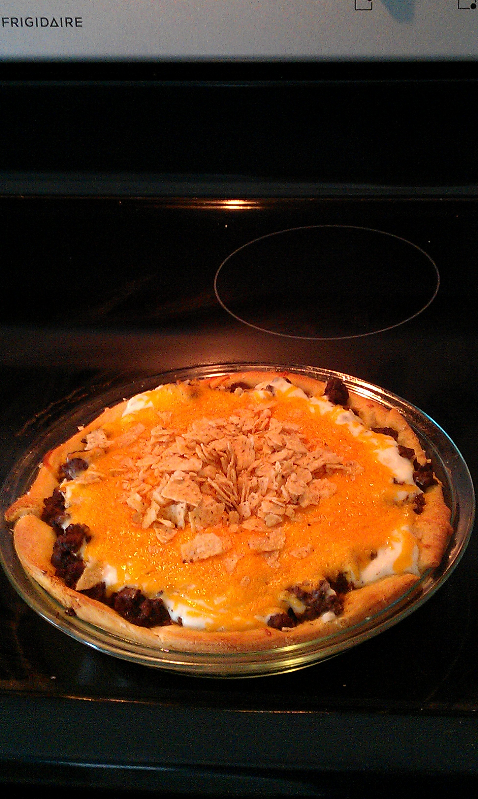 recipe: taco pie with tortilla chips [37]