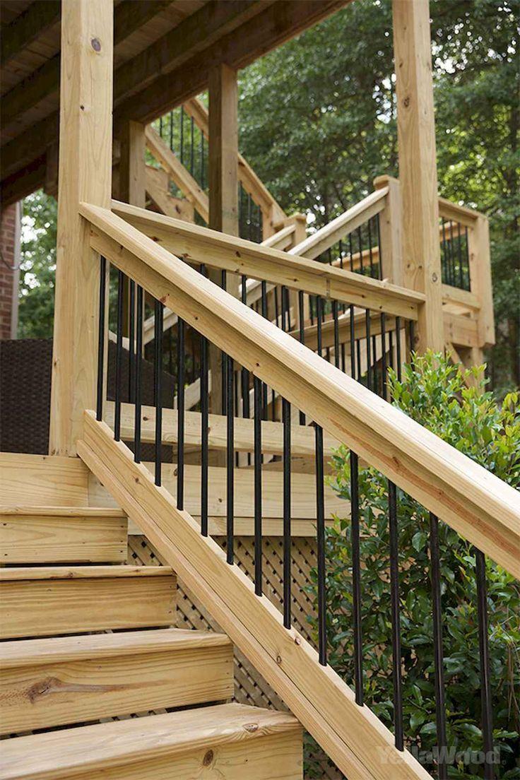 Deck Railing Ideas wooden diy metal cottage composite ...