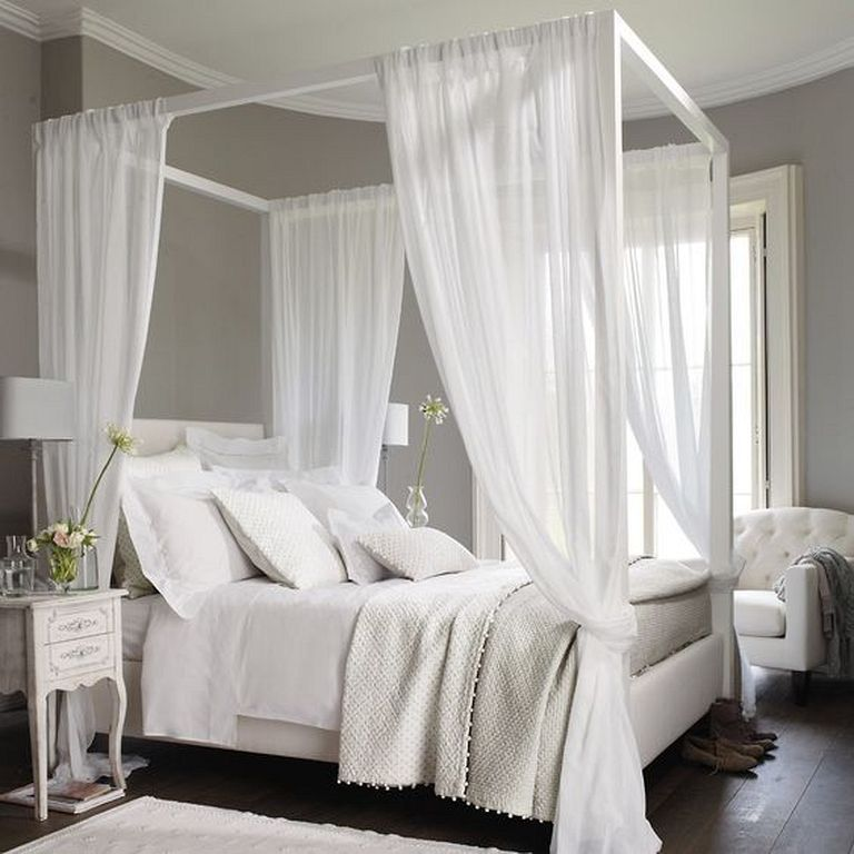 Interesting Sheer Bed Canopy Curtain Design Ideas For Bedroom