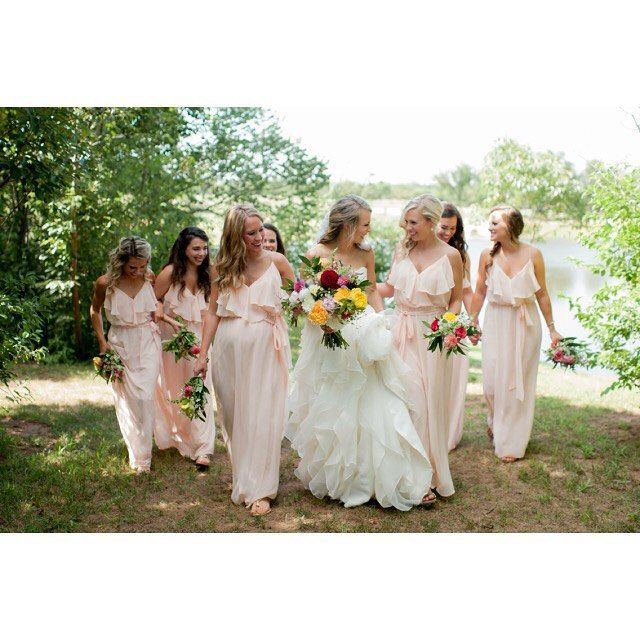 Fat Ugly Wedding Dress: The Prettiest Bridesmaids Of All💕#minglealltheway#amsale