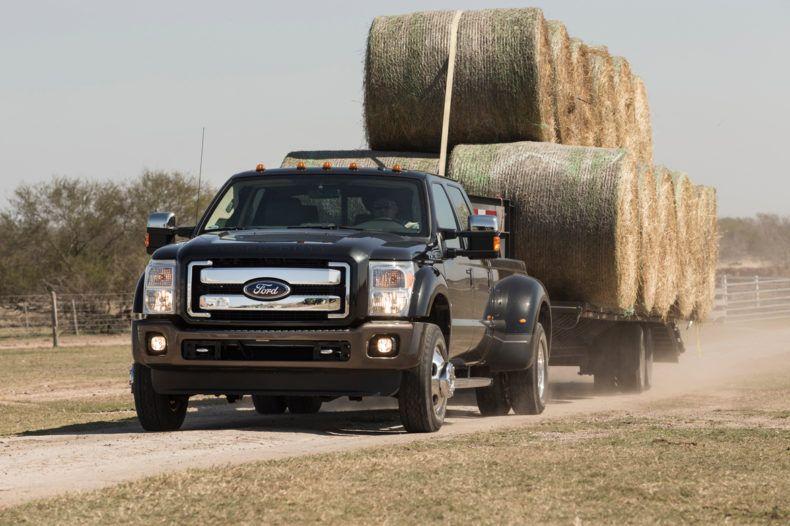 Hauling hay everyday builtfordtough ford trucks ford