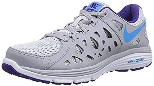 Nike Dual Fusion Run 2 Women s Running Shoes Size US 7 B Platinum Wolf Grey Court  Purple Blue 3d2c0ddc8
