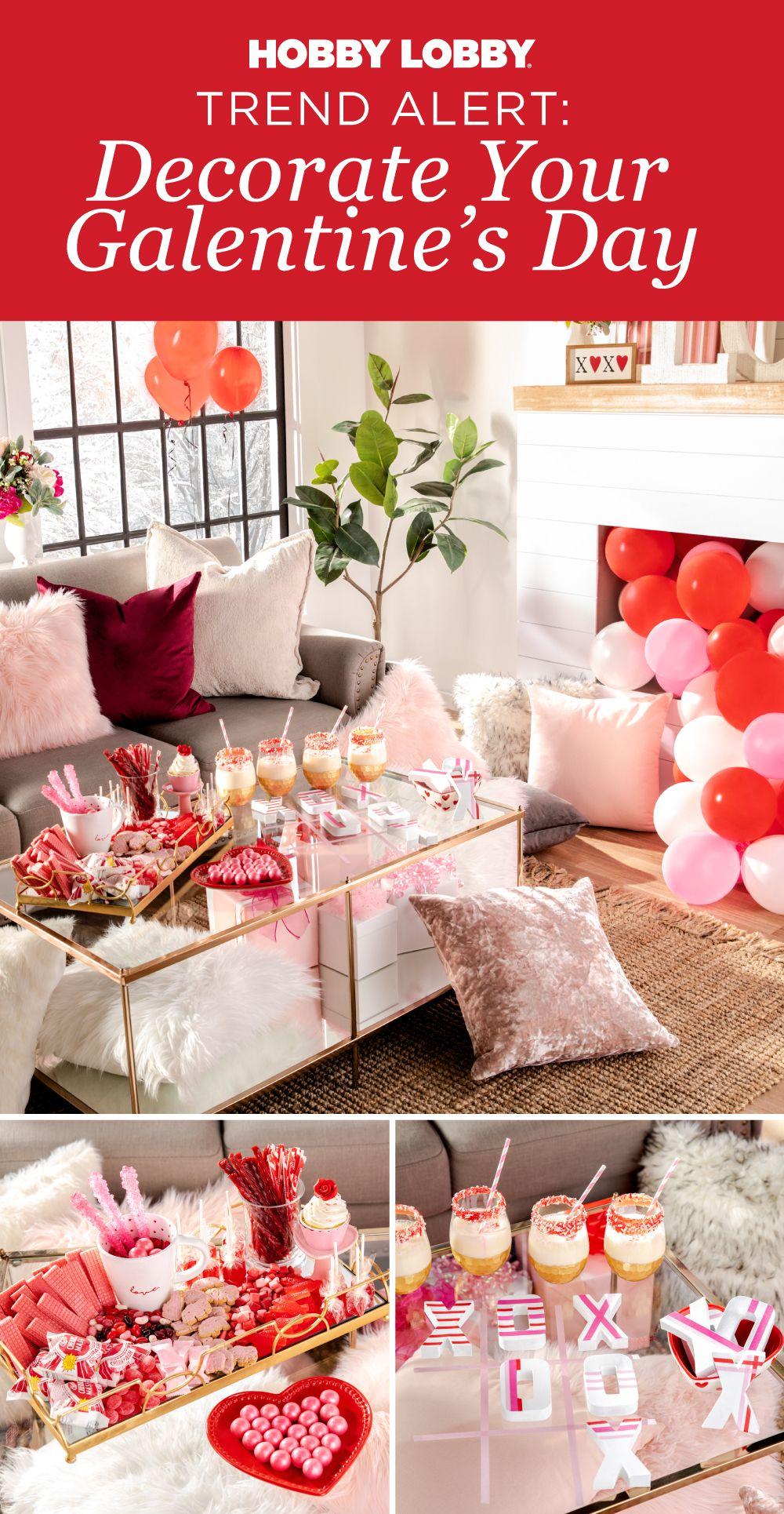 Combine Lush Decor With Bright Accents To Create The Perfect Galentine S Day Vibe Craftsman Home Interiors Lush Decor Romantic Interior