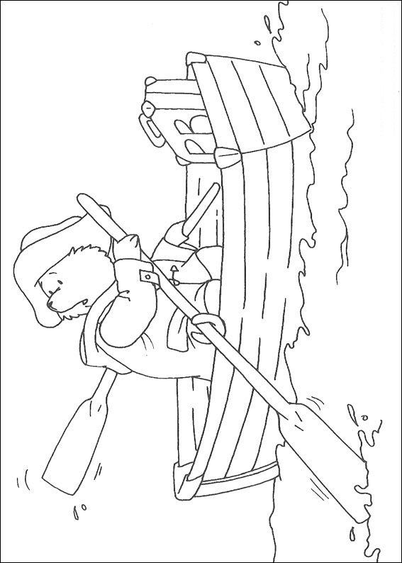 Coloring Page Paddington Bear Kids N Fun