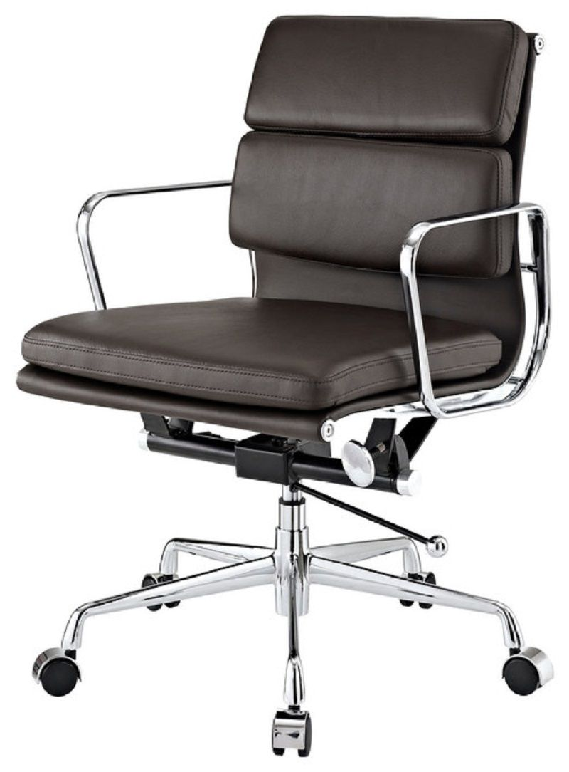 Ordinaire Brown Leather Mid Back Conference Room Chairs With Casters ~  Http://lanewstalk.com/conference Room Chairs Cith Casters/