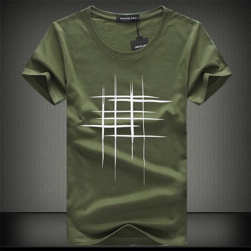 598b4e3e8fa3 Simple Creative Design Line Cross cotton T Shirts for Summer ...