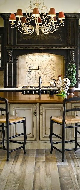 Photo of Lovely kitchen details ~ Flooring, chandelier, architecture….Spectacular!
