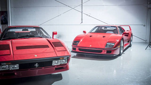 "51 Coolest Cars of the Last 50 years - Features - Road & Track 1987 F40 (""Incredible Hulk on wheels"") and 1984 288 GTO"
