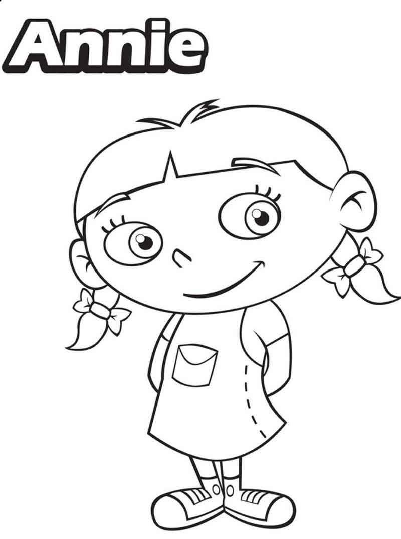 Little Einsteins Coloring Pages Annie