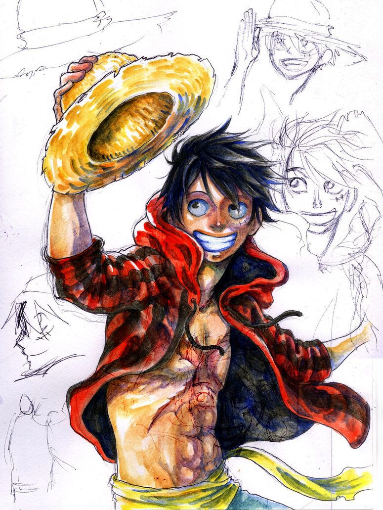 Luffy with Progress by Zinfer on deviantART