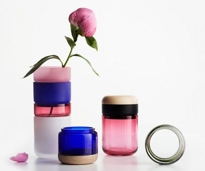 Glass Objects for Everyday Use container wooden lid Maija Puoskari