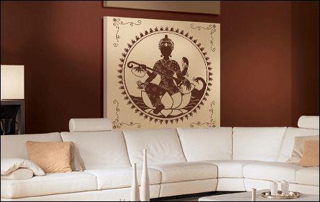 Stickers Décoratif : Musicien indien