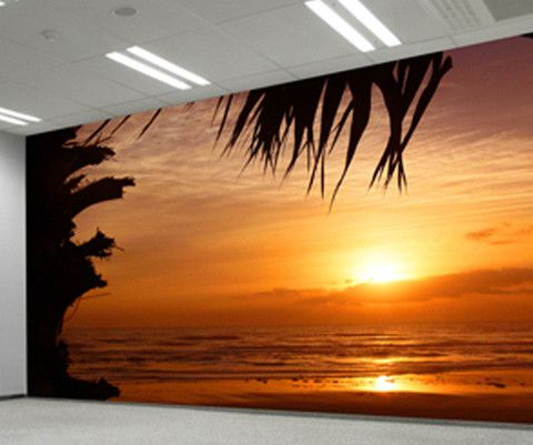 Wall Mural Decal Sticker Beach Sunset #MMartin120 Part 45