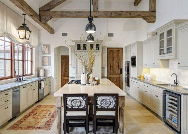 27 Küchen Ideen U2013 Weiße Rustikale Küche Mit Modernen Elementen