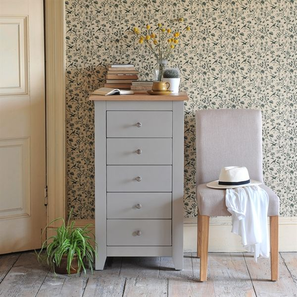 Chester Grey 5 Drawer Chest | Gray bedroom furniture, Grey painted ...