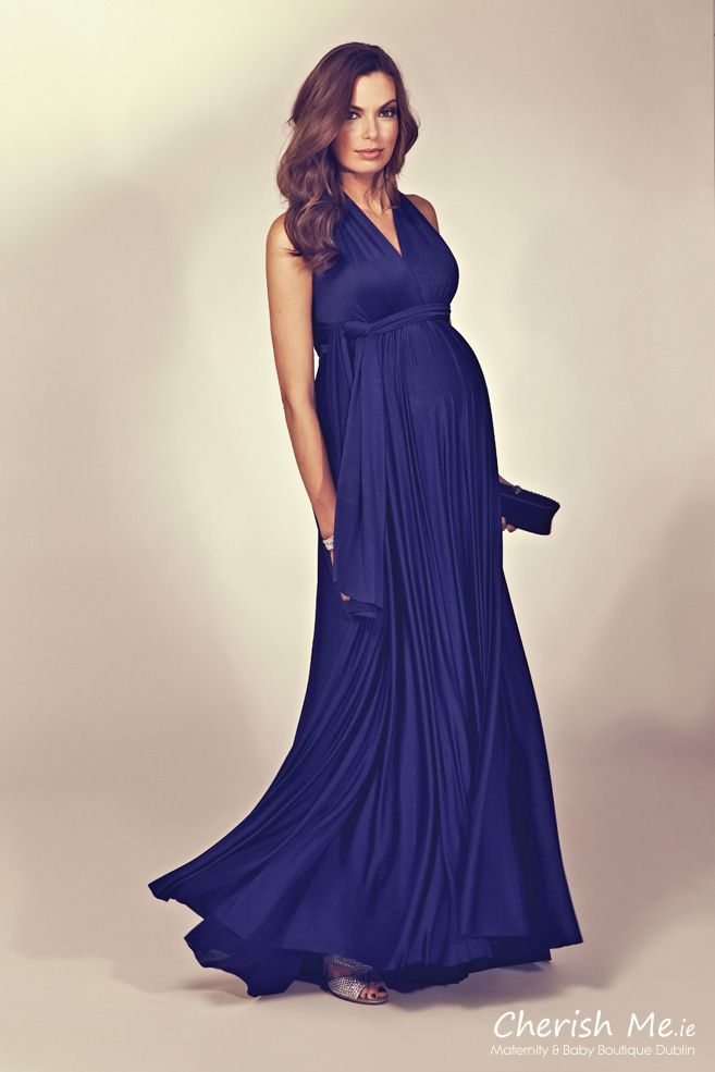 Seraphine Alisa multiway maternity maxi dress Midnight Featured