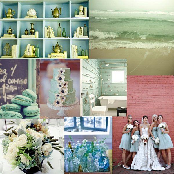 Seafoam Green Wedding Ideas: Seafoam Green Wedding Inspiration Board