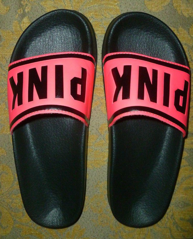 Brand New Victoria's Secret PINK Slides Beach flip flops