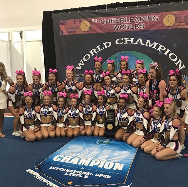 Flyers All Stars Canada Knockout 2017 International Open 5 World Champions Silver Cheer Sport Cute Cheer Pictures Cheer Award Cheer Pictures